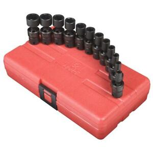 Sunex Tools 1814 12 Piece 1 4 Drive Universal Metric Imp Socket Set