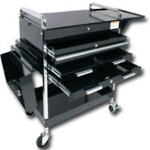 Sunex Tools 8013abkdeluxe Deluxe Service Cart 4 Drawers Black