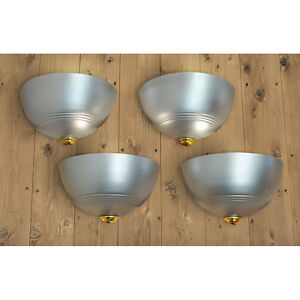 Streamline Art Deco Wall Sconces Set Of 4 Modern Lights Fixtures Ant 615