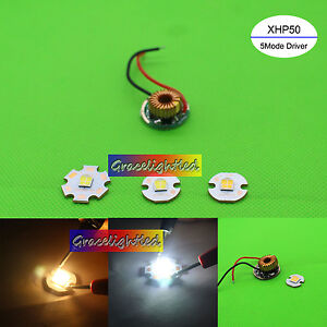 Cree Xh50 6v Cool White Warm White Led Chip copper Pcb 12v 5mode Led Driver