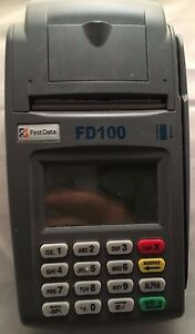 First Data Fd100 Credit Card Terminal Only No Power Supply Fd 100
