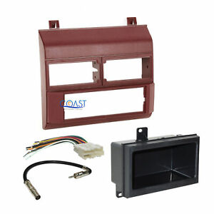 Car Radio Stereo Burgundy Dash Kit Harness Antenna For 1988 94 Chevy Gmc Trucks