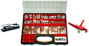 Air Hose Repair Kit With Hose Crimper Fittings Ferrules Container