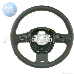 Audi S line A4 A6 A8 Q7 Leather Steering Wheel Colored Stitching 4f0419091bturs