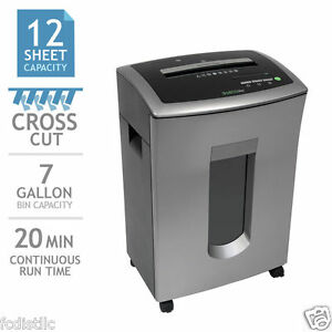 Goecolife Commercial grade 12 sheet Cross cut Shredder