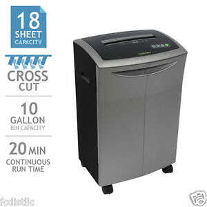 Goecolife Commercial grade 18 sheet Cross cut Shredder W Bonus Lubricant Sheets