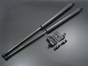 Fit Vw Volkswagen Golf Iii 91 97 Bonnet Hood Black Carbon Gas Strut Shock Damper