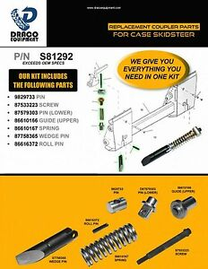 Quick Coupler Repair Kit For Case Skid Steer Part 81292