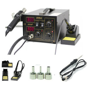 Yihua 852d 2in1 Electric Digital Soldering Station Iron Hot Air Gun Kit 110v