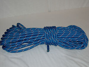 Double Braid Polyester Safety Winch Rigging Line 7 16x100 Feet Blue