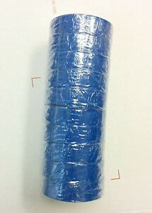 100 Pc new Pvc High Grade Electrical Tape Rolls Blue 3 4 X 60 Ft Ul Listed
