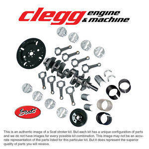 Ford 351 2 75 408 Bal Scat Stroker Kit Forged dish pist I beam Rods