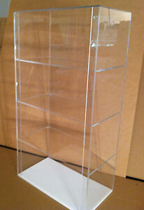 Usa Special acrylic Counter Top Display Case 12 X 7 X 22 5 Different Spacings