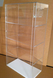 Special Acrylic Counter Top Display Case 12 X 7 X 22 5 Different Shelf Spaces