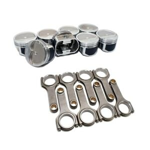 Wiseco Pts508a6 Pro Tru Pistons Sbc 350 Rev Dome 60 Over W Scat H Beam Rods