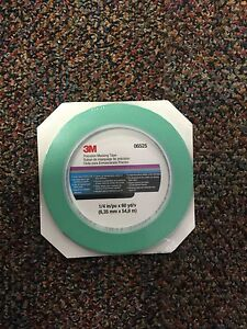 3m Fine Line Mint Green Precision Masking Tape 1 4 X 60 Yards 3m 6525 06525