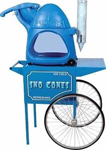 Paragon s The Cooler Snow Cone Machine Cart Combo Made In The Usa