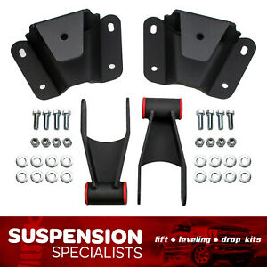 4 Rear Drop Lowering Hanger Shackle Kit For 1973 1979 Ford F100 2wd