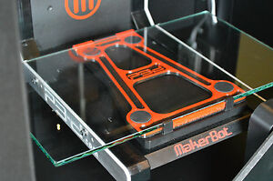 Makerbot Replicator 2 Glass Build Plate System Upgrade Light Weight
