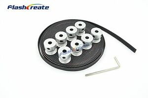 20 Teeth 2gt Timing Pulley Bore 5 6 6 35 8mm Gt2 Synchronous Belt W 6mm 20t