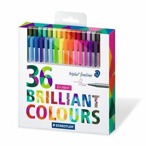 Staedtler Color Pen Set Set Of 36 Assorted Colors triplus Fineliner Pens Ca