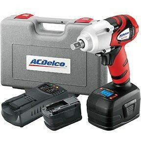 Ac Delco 18v Cordless Lithium Ion 1 2 In Impact Wrench With Digital Clutch