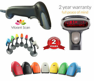 Vibrant Scan 1d Low Cost Handheld Barcode Scanner With Stand Usb Cable