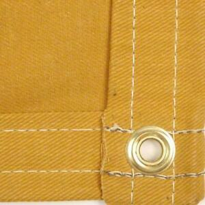 Sigman 12 X 12 Cotton Canvas Tarp 16 Oz Tan Color Made In Usa Brand New