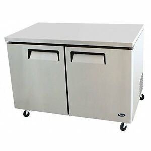 Atosa Mgf8402 48 inch Two door Under counter refrigerator
