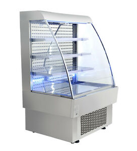 Omcan Rs cn 0380 39 37x34 5x60 12 inch Open Refrigerated Display Case 13 42 Cu