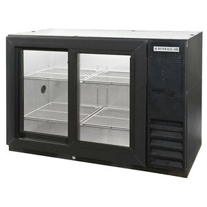 Beverage Air Bb48gsy 1 b 48 inch Back Bar Cooler With 2 Glass Doors Ul Culus
