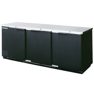 Beverage Air Bb94 1 b 95 inch Back Bar Refrigerator With 3 Solid Doors Nsf And