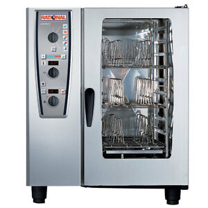 Rational Model 101 A119106 43 202 Electric Combi Oven With Ten Half Size Sheet