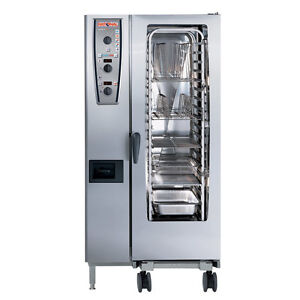 Rational Model 201 A219206 27d202 Gas Combi Oven With Twenty Half Size Sheet Pa