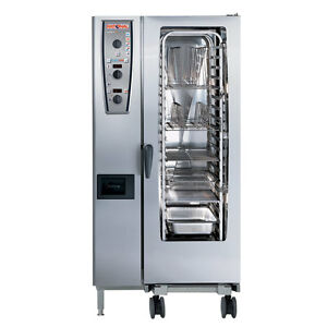 Rational Model 201 A219206 27e202 Gas Combi Oven With Twenty Half Size Sheet Pa