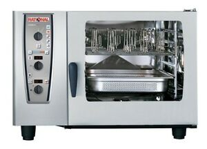 Rational Model 62 A629206 19e202 Gas Combi Oven With Six Full Size Sheet Pan Ca