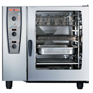 Rational Model 102 A129206 19e202 Gas Combi Oven With Ten Full Size Sheet Pan C