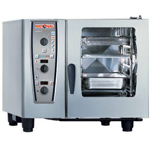 Rational Model 61 A619106 43 202 Electric Combi Oven With Six Half Size Sheet P