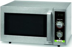 Winco Emw 1000sd 1 000w Dial Spectrum Commercial Microwave Stainless Steel