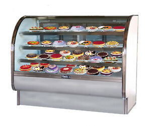 Leader Cvk57dry 57x35x50 inch Dry Bakery Display Case Curved Glass Etl Listed