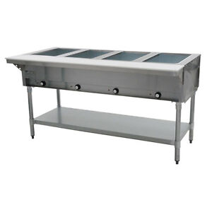 Eagle Group Dht4 208 63 5 inch 4 well Electric Steam Table Nsf Cul Kcl