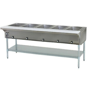 Eagle Group Ht5 ng 79 inch 5 well Gas Steam Table Natural Gas Nsf Cul Kcl