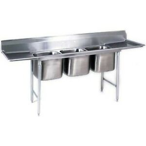 Eagle Group 412 16 3 18 Stainless Steel Commercial Compartment Sink With Three
