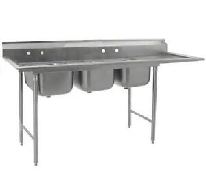 Eagle Group 414 24 3 24r Stainless Steel Commercial Compartment Sink With Three