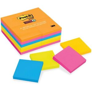 Post it reg Super Sticky Notes 3 x 3 Rio De Janeiro Collection 65424ssau