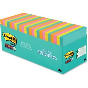 Post it reg Super Sticky Notes 3 X 3 Miami Collection 65424ssmiacp