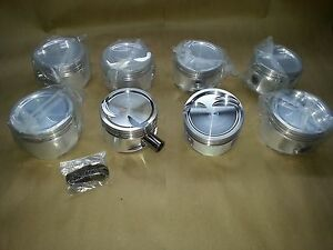 Small Block Ford Windsor Custom Pistons 4 00 Bore 19cc Dish