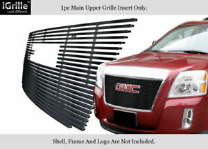 Fits 2010 2015 Gmc Terrain 1 Pc With Logo Show Stainless Black Billet Grille