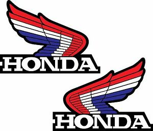 Honda Wings Set Of 2 Bike Motorcycle Retro Vintage Logo Vinyl Sticker Decal Wall