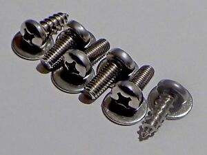 4 2 For Subaru Mazda Stainless Steel License Plate Bolts 4 2 Screws